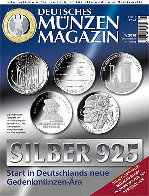 Deutsches Münzen Magazin Jahrgang 2016 Alle Ausgaben Des