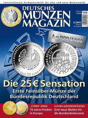 Deutsches Münzen Magazin Ausgabe 32015 Deutsches Münzen Magazin